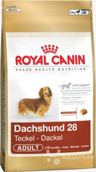 Royal Canin Dachshund Adult 0,5 kg цена и информация | Kuivtoit koertele | kaup24.ee