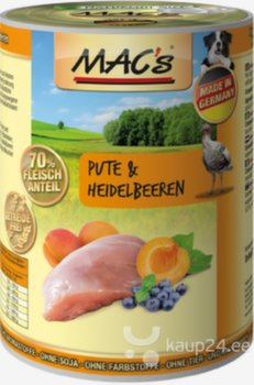 Koerakonserv Mac's Turkey & Blueberries 800 g