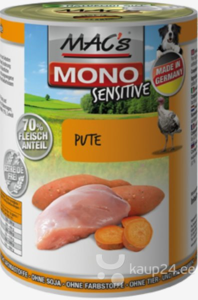 Koerakonserv Mac's Mono Sensitive Turkey 800 g цена и информация | Konservid koertele | kaup24.ee