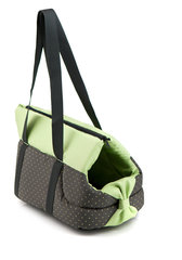 Comfy loomade transportkott Lilly 35x20x34 cm, must / roheline
