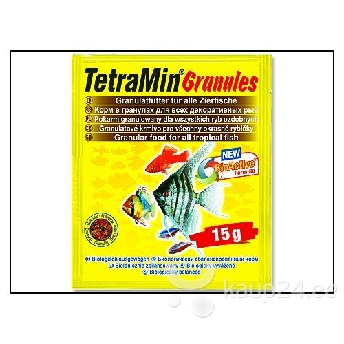 TetraMin GranulesSachet 15g, sööt kõikidele kaladele
