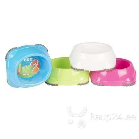 Väike kauss lemmikloomale 300 ml,erinevad värvid цена и информация | Sööginõud | kaup24.ee