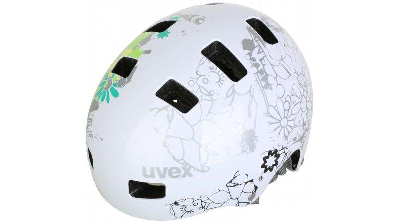Детский велосипедный шлем Uvex Kid 3 Flower, белый цена