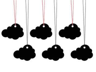 Dekoratiivsed sildid Cloud (1 pakk / 6 tk)