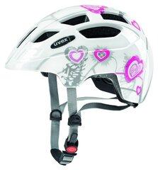 Детский велосипедный шлем Uvex Finale Junior LED, белый/розовый