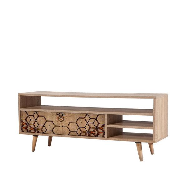 TV-laud Selsey Smartser 130 cm, pruun