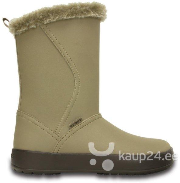 Naiste saapad Crocs™ Colorite Mid Boot, helepruun цена и информация | Poolsaapad ja saapad | kaup24.ee