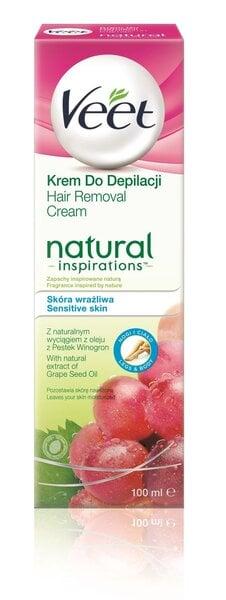 Depileerimiskreem Veet Natural Inspirations 100 ml цена и информация | Depileerimisvahendid | kaup24.ee