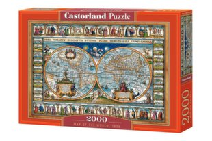 Pusle Castorland Map of the world, 1639, 2000 tk hind ja info | Pusle Castorland Map of the world, 1639, 2000 tk | kaup24.ee