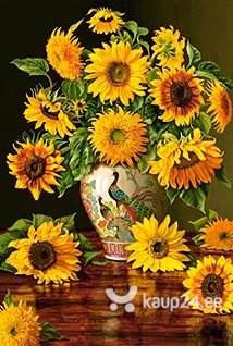 Pusle Puzzle Castorland Sunflowers in a Peacock Vase, 1000 tk цена
