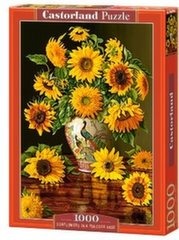 Pusle Puzzle Castorland Sunflowers in a Peacock Vase, 1000 tk