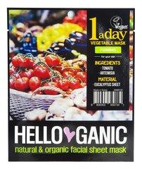 Укрепляющая маска для лица HELLOGANIC Vegetable 23 мл