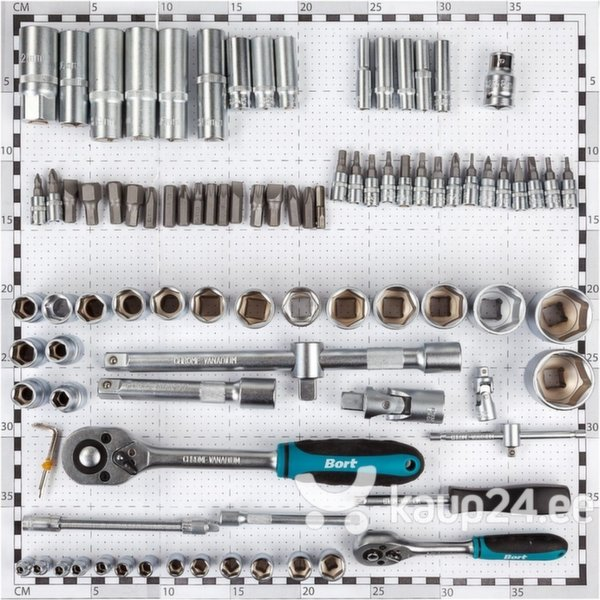 "Набор головок, наконечников и трещоток Bort BTK-94, 1/4 ""+ 1/2"""