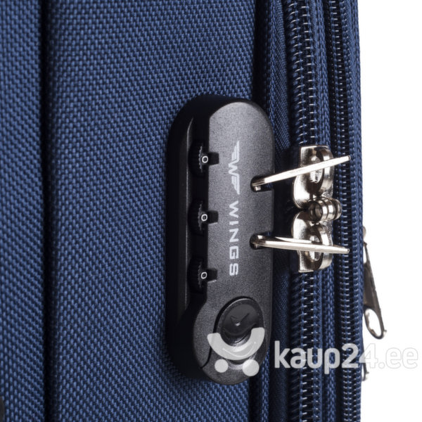 Väike kohver Wings S 206-2, punane tagasiside