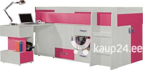 Narivoodi Meblar Mobi KM21, helepruun/roosa