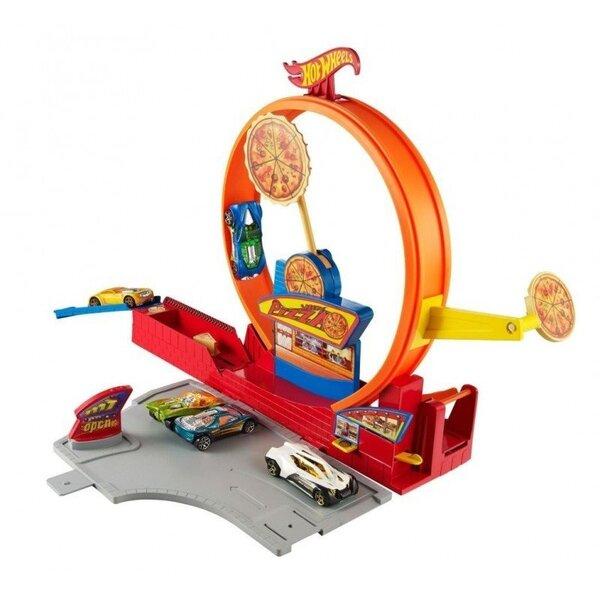Автотрасса Hot Wheels, гараж и мойка для машин цена и информация | Poiste mänguasjad | kaup24.ee