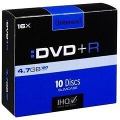 Intenso DVD+R 4.7GB, 10 tk. Slim Case