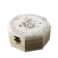 Dekoratiivne karp Izolda, 19x19x8 cm, puidust hind ja info | Sisustuselemendid | kaup24.ee
