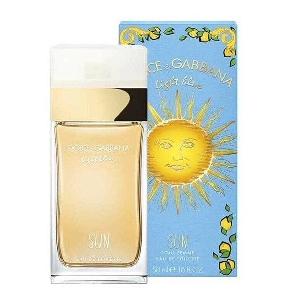 Tualettvesi Dolce & Gabbana Light Blue Sun EDT naistele 50 ml