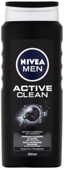 Dušigeel-šampoon Nivea Men Active Clean Shower Gel meestele 500 ml