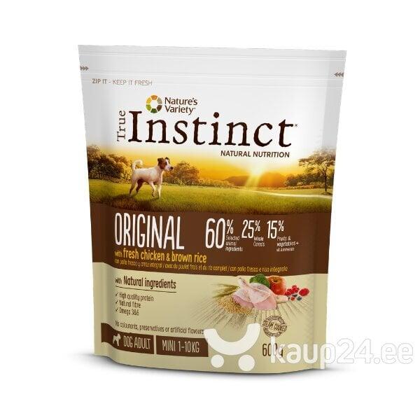 True Instinct ORGINAL для взрослых собак мелких пород со свежей курицей и коричневым рисом, 0,6 кг