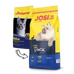 Kuivtoit kassidele krõbeda pardilihaga JosiCat Crispy Duck, 10 kg hind ja info | Kuivtoit kassidele | kaup24.ee