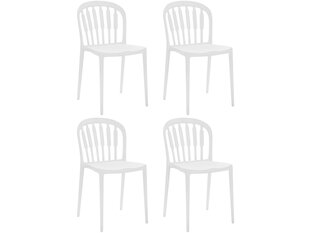 4-tooli komplekt Notio Living Linz, valge hind ja info | Söögitoolid, köögitoolid | kaup24.ee