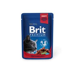 Konserv kassidele kotis Brit Premium Beef Stew&Peas 100g x 24 tk hind ja info | Konservid kassidele | kaup24.ee