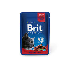Konserv kassidele kotis Brit Premium Beef Stew&Peas 100g x 24 tk