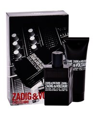 Komplekt Zadig & Voltaire This is Him! meestele: tualettvesi EDT 50 ml + dušigeel 75 ml