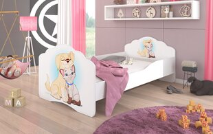 Lastevoodi ADRK Furniture Casimo Dog and Cat, 140x70cm hind ja info | Lastevoodid | kaup24.ee