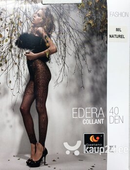 Gaetano Cazzola EDERA 40DEN mustad naiste sukkpüksid, M/L