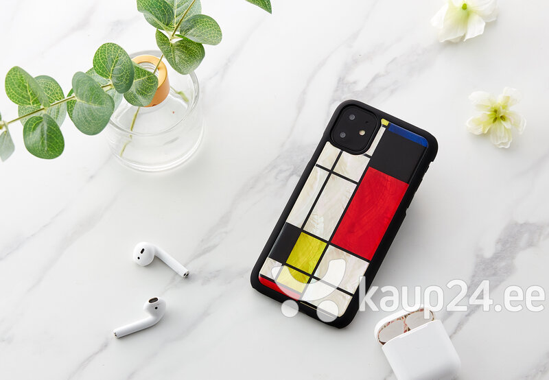 iKins ümbris Apple iPhone 11, Mondrian, Must tagasiside
