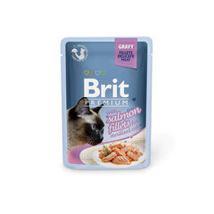 Konserv kassidele Brit Premium Cat Delicate Salmon for Sterilised in Gravy 85g x 24 tk
