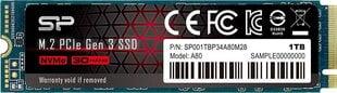 Silicon Power SP001TBP34A80M28 hind ja info | Sisemised kõvakettad (HDD, SSD, Hybrid) | kaup24.ee