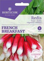 Редис French Breakfast 5г цена и информация | Семена овощей, ягод | kaup24.ee