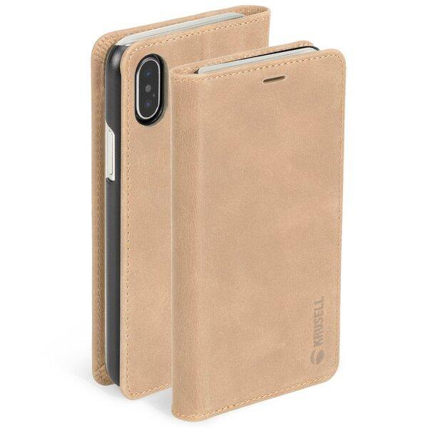 Telefoniümbris Krusell Sunne 4 Card FolioWallet, sobib Apple iPhone XS Max, pruun