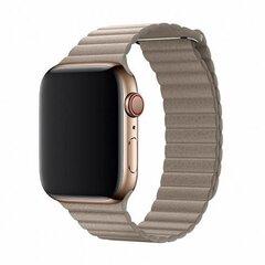 Nahast rihm Devia Elegant sobib Apple Watch(44mm), Hõbedane hind ja info | Nutikellade ja nutivõrude tarvikud | kaup24.ee