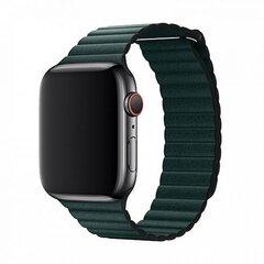 Devia Elegant nahast rihm Apple Watch(40mm) jaoks, Roheline hind ja info | Nutikellade ja nutivõrude tarvikud | kaup24.ee