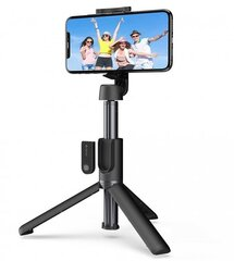 "Selfiepulk/statiiv Devia Tripod Stand All-in-one, Must цена и информация | Штативы для селфи (""Selfie sticks"") 