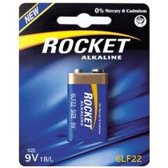 Rocket 6LR22-1BB (9V) Blister Pack 1pcs hind ja info | Rocket 6LR22-1BB (9V) Blister Pack 1pcs | kaup24.ee
