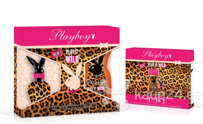 Komplekt Playboy Play It Wild EDT naistele 30 ml + dušigeel 250 ml цена и информация | Naiste lõhnad | kaup24.ee