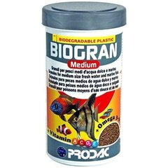 Keskmised graanulid kaladele Podac Biogran Medium 250ml 120g hind ja info | Toit kaladele | kaup24.ee