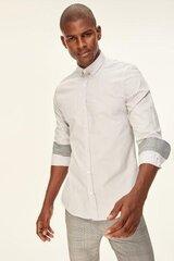 Рубашка мужская, серая цена и информация | Мужские рубашки | kaup24.ee