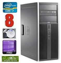 HP 8100 Elite MT i7-860 8GB 1TB GT1030 2GB DVD WIN10Pro hind ja info | HP 8100 Elite MT i7-860 8GB 1TB GT1030 2GB DVD WIN10Pro | kaup24.ee