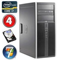 HP 8100 Elite MT i7-860 4GB 500GB NVS450 DVD WIN7Pro hind ja info | Lauaarvutid | kaup24.ee