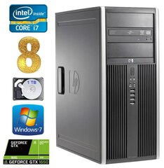 HP 8100 Elite MT i7-860 8GB 1TB GTX1650 4GB DVD WIN7Pro hind ja info | HP 8100 Elite MT i7-860 8GB 1TB GTX1650 4GB DVD WIN7Pro | kaup24.ee