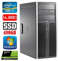 HP 8100 Elite MT i7-860 16GB 480SSD GTX1650 4GB DVD WIN7Pro hind ja info | HP 8100 Elite MT i7-860 16GB 480SSD GTX1650 4GB DVD WIN7Pro | kaup24.ee