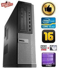 DELL 790 DT i5-2500 16GB 480SSD+2TB DVDRW WIN10Pro hind ja info | Lauaarvutid | kaup24.ee