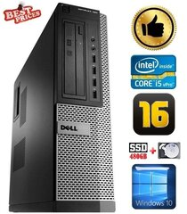 DELL 790 DT i5-2500 16GB 480SSD+2TB DVDRW WIN10 hind ja info | Lauaarvutid | kaup24.ee